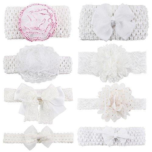 KOONY Fashion Elastic Flowers Headbands
