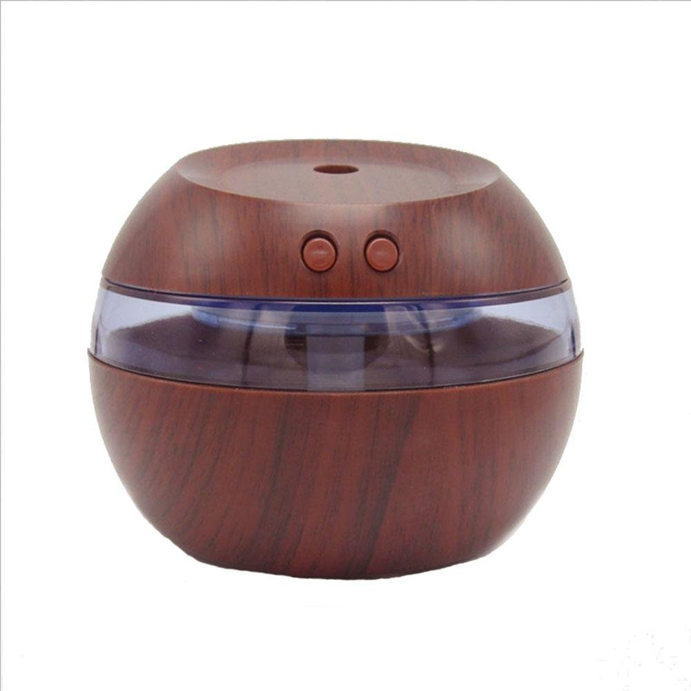 Wood Humidifier Aromatherapy USB Ultrasonic Anion Atomizer Household , dark wood