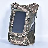 KIMWAY Camouflage Solar Backpack with 7 Watts Solar Panel...
