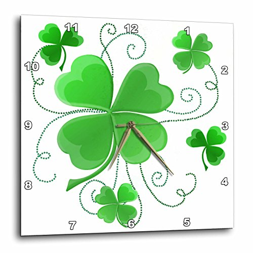 3dRose This Design Is of some Lucky Shamrocks Just In Time