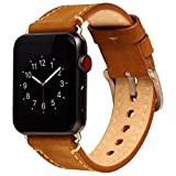 For Apple Watch Band 42mm Mkeke Genuine Leather iWatch...