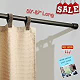 RV Expandable Shower Curtain Rod 50'' - 87'' Long Twist to Extend Strong Durable Non Slip Foots Perfect for RV and Home, Modern Tools and Accessories (Bronze) & Free Ebook by Stock4All
