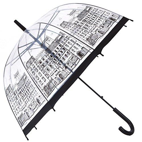 Dome Bubble Umbrella - HAOCOO Street Clear Umbrella,Bubble Transparent Fashion Dome Auto Open Umbrella Windproof for Outdoor Weddings or Events