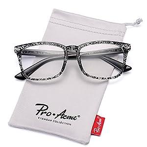 Pro Acme New Wayfarer Non-prescription Glasses Frame Clear Lens Eyeglasses (Ink)