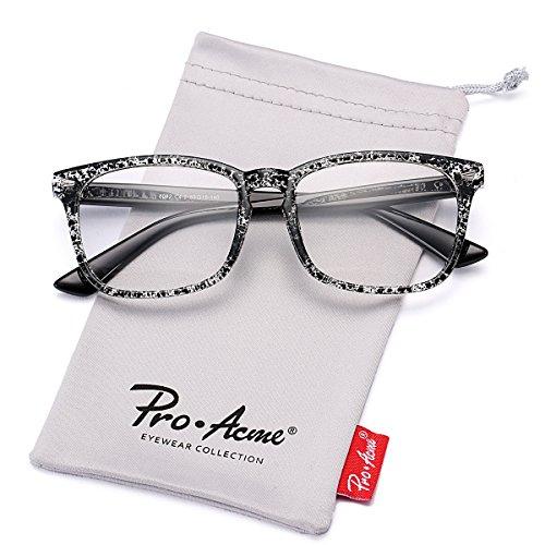 Pro Acme New Wayfarer Non-prescription Glasses Frame Clear Lens Eyeglasses - Glasses Ink Frames La