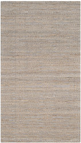 Safavieh Cape Cod Collection CAP412A Hand Woven Geometric Grey and Sand Jute and Cotton Area Rug (2' x 3')