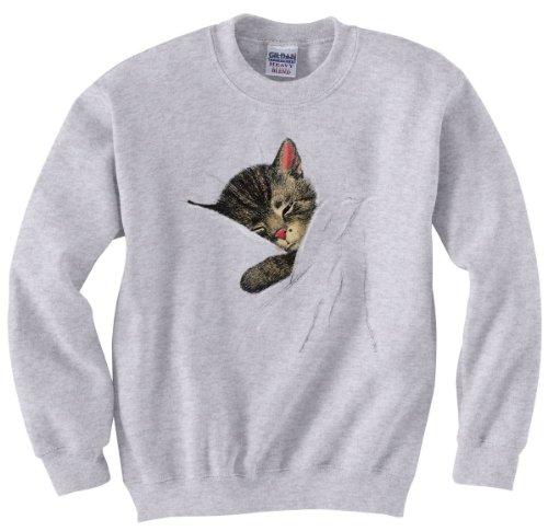 Daylight Sales Nighttime Chessie The Sleeping Kitten Railroad Sweatshirt Adult 2XL [20019gry] Gray