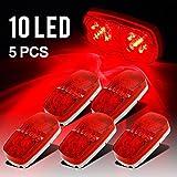 Partsam IVE Trailer Marker LED Light Double Bullseye 10 Diodes Clearance Light Red