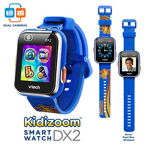 Image of the VTech Kidizoom Smartwatch DX2 - Special Edition - Skateboard Swoosh with Bonus Royal Blue Wristband