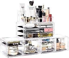 Makeup Organizer Acrylic Cosmetic Storage Drawers Jewelry Display Box