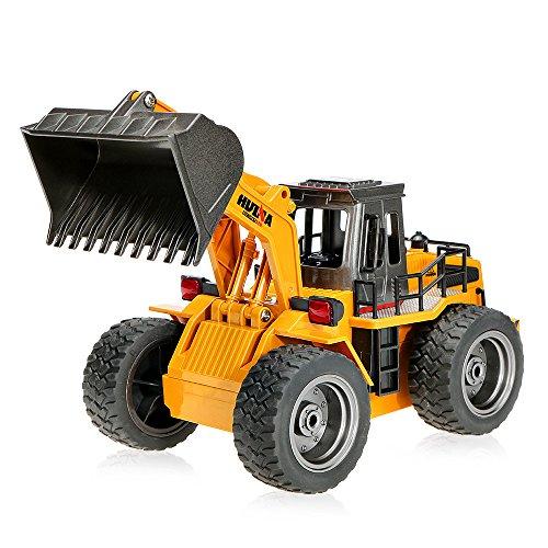 GoolRC RC Control Remoto Construcción Tractor coche con luces y sonido ingeniería electrónica excavadora RC Toys–Coche para niños