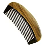 Elisona-Green Sandalwood Wooden OX Horn Joint Hair Comb Pocket Comb