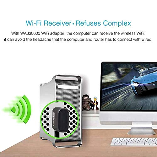 600Mbps Dual Band 802.11ac 2.4GHz 5GHz PC WiFi USB Adapter Network LAN Dongle