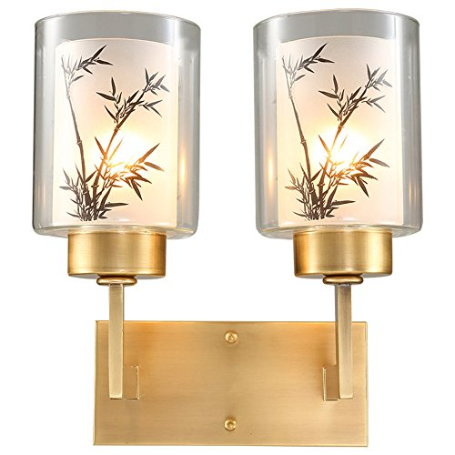 QIMLIGHT Modern Plug in Wall Lamp New Rustic Copper Lamp Chinese Headwear Edison Wall Sconce Decorative Fixtures Lighting Luminaire]()