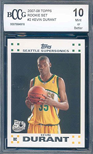 2007-08-topps-rookie-set-2-kevin-durant-okc-thunder-card-rookie-bgs-bccg-10-graded-card