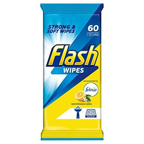 Flash de la armadura fuerte toallitas de limón Febreze 60 por paquete