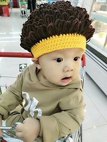 2cec52a7c53 Amazon.com   Jato buy baby hat autumn and winter wool 0-3-6-12 month old  boy child wig hat women girls female baby Spr tide   Jewelry