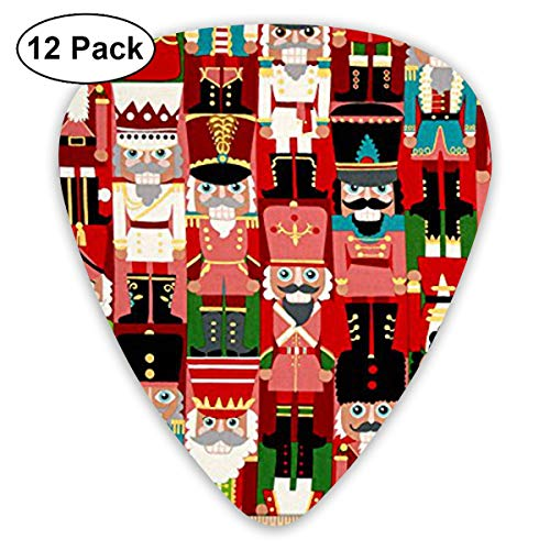 (WGYWE Nutcracker Toy Soldiers Classic Premium Guitar Picks 12 Pack Assorted Colorful Design - for Electric, Acoustic, Bass Guitar)