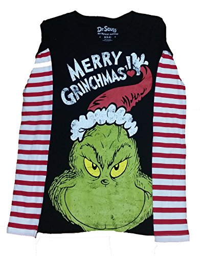 Juniors How the Grinch Stole Christmas Merry Grinchmas Graphic T-Shirt - 2XL
