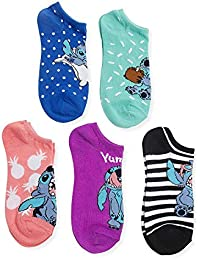 Women's Lilo & Stitch 5 Pack No Show Socks