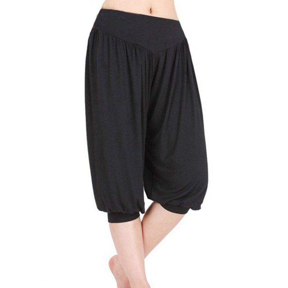 GOGO TEAM Womens Cropped Pants Yoga Herem Pants Fitness Activewear Pants
