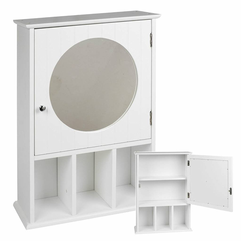 White Wall Mounted Bathroom Cabinet With Mirror Koop