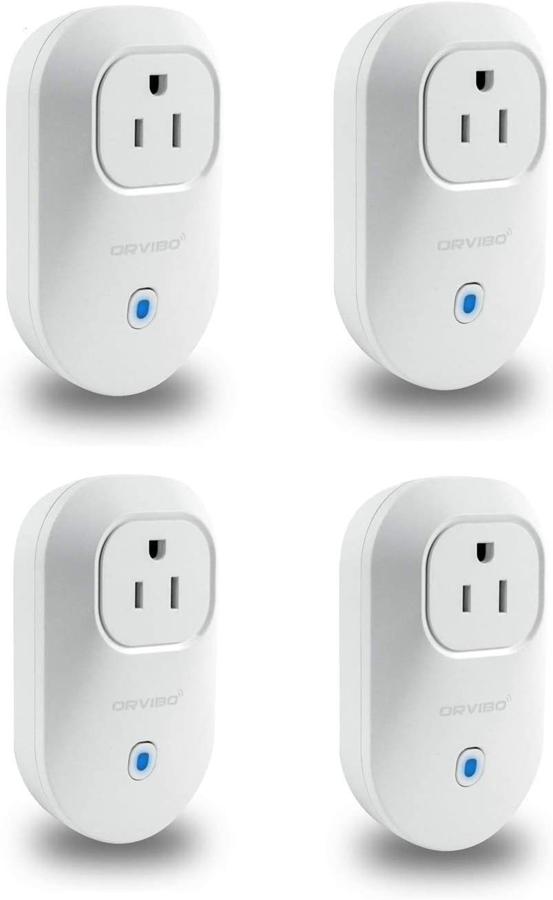Smart plug, Orvibo Mini Wifi Outlet Works With Google Home& HomeMate and Mostly Smart Home Devices, Remote Control &Timer,Smart Socket- 2 Pack