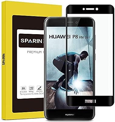 SPARIN Protector Pantalla Huawei P8 Lite 2017, Full-Cover Cristal ...