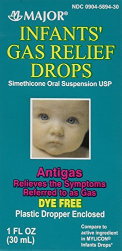 Newborns, Infants & Children Gas Relief Simethicone 20 mg/0.3ml Drops Dye Free Generic for Mylicon 1 oz (30ML) 2 PACK Total 2 oz