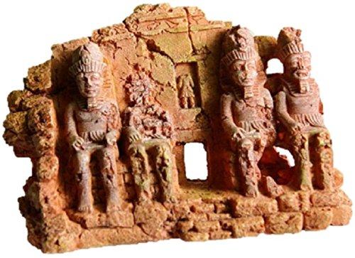 「SKP」 Aquarium Ornament Ancient Image Ancient Building Fish Tank (B Type) (Tank Bubbler Skeleton Fish)
