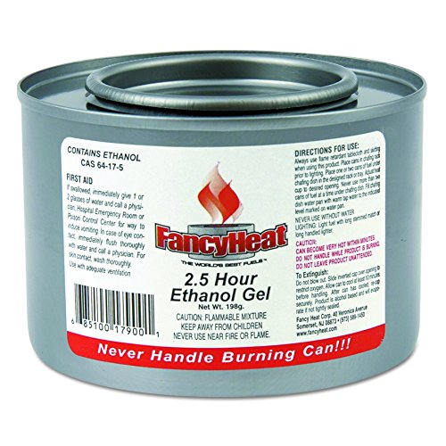 FancyHeat F900 Ethanol Gel Chafing Fuel Can, 2-1/2 Hour Burn, 7 oz (Case of 72) by FANCY HEAT