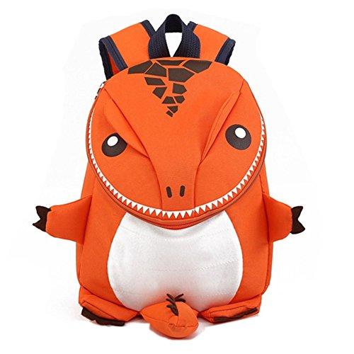 Coavas Toddler Backpacks - Cute Lifelike Dinosaur Orange Best Gift For 1-5 Years...
