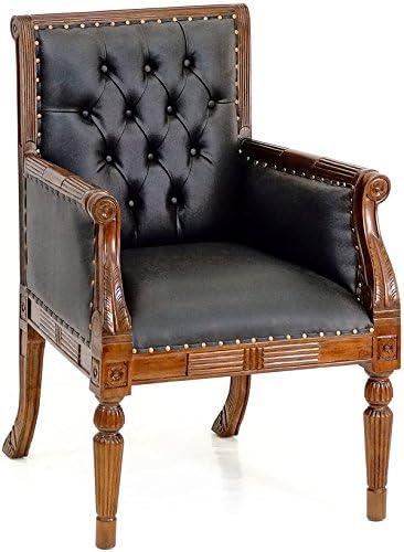 Armlehnstuhl Antik Sessel ESSZIMMERSTUHL MAHAGONI VINTAGE Sessel Polsterstuhl