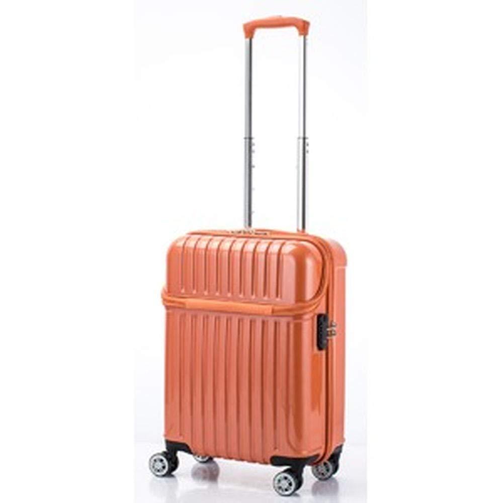 トップオープンスーツケース/キャリーバッグ-オレンジカーボン-機内持ち込みサイズ33L『アクタストップス』- B07TRGH18J