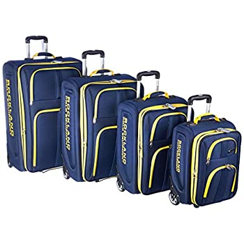 Image of Rockland Luggage Varsity Polo Equipment 4 Piece Luggage Set, Navy, One Size Luggage