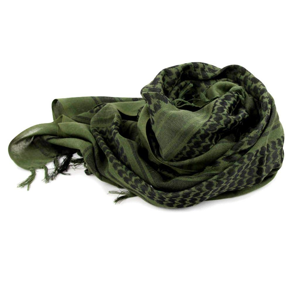 SUNSETGLOW Outdoor Stile Arabo Ispessito Caldo a Prova di Freddo Sciarpa, Inverno Caldo a Prova di Freddo Sciarpa Cotone Turbante Militare tattico Desert Head Sciarpa Sciarpa del Deserto