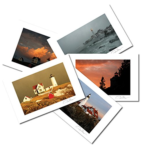 Great Lighthouse Postcards. Variety Pack. 4x6, 10 Pack, 2 each of 5. Unique Birthday Cards, Thank You Notes & Invitations. Best Quality Christmas & Valentine's Day Gifts for Women, Men & Kids