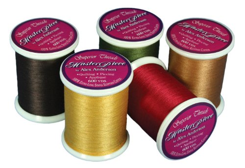 Superior Threads MasterPiece #50/3-Ply Quilting Thread 600 yds Spool Set of 25 Newest Colors (#162-#186) 124-01-NEW25SET by Superior Threads