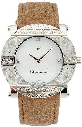 Faconnable Damen-Armbanduhr Analog Quarz Beige FGZR1