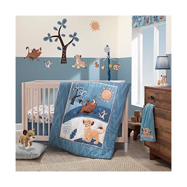 Lambs & Ivy Lion King Adventure 3Piece Baby Crib Bedding Set, Blue
