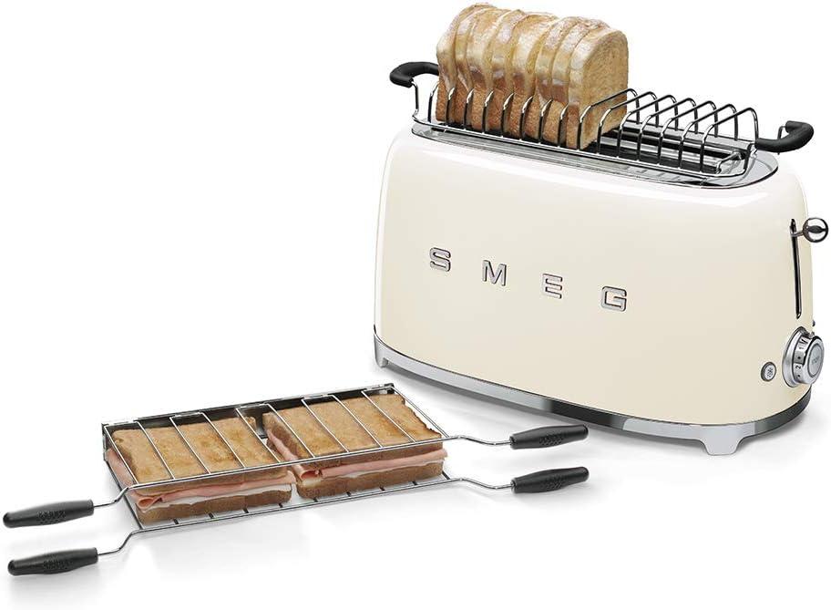 Smeg TSF02CRUK 50's Retro Style 4 Slice Toaster - Cream