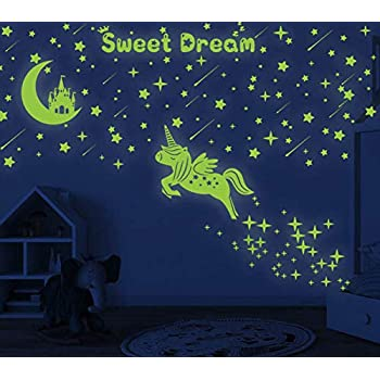 Glow in The Dark Stars and Planet Wall Stickers for Kids 79pcs Planets and Stars