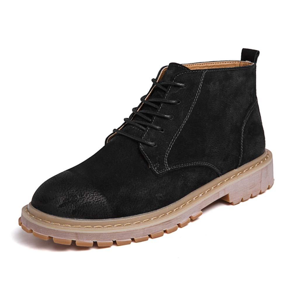 Dundun-Stiefel 2018 Neue Kommende Stiefel, Männer Casual Einfach und Komfortabel Klassisch High Top Stiefel Mode Retro Ankle Work Stiefel (Farbe   Schwarz, Größe   40 EU)