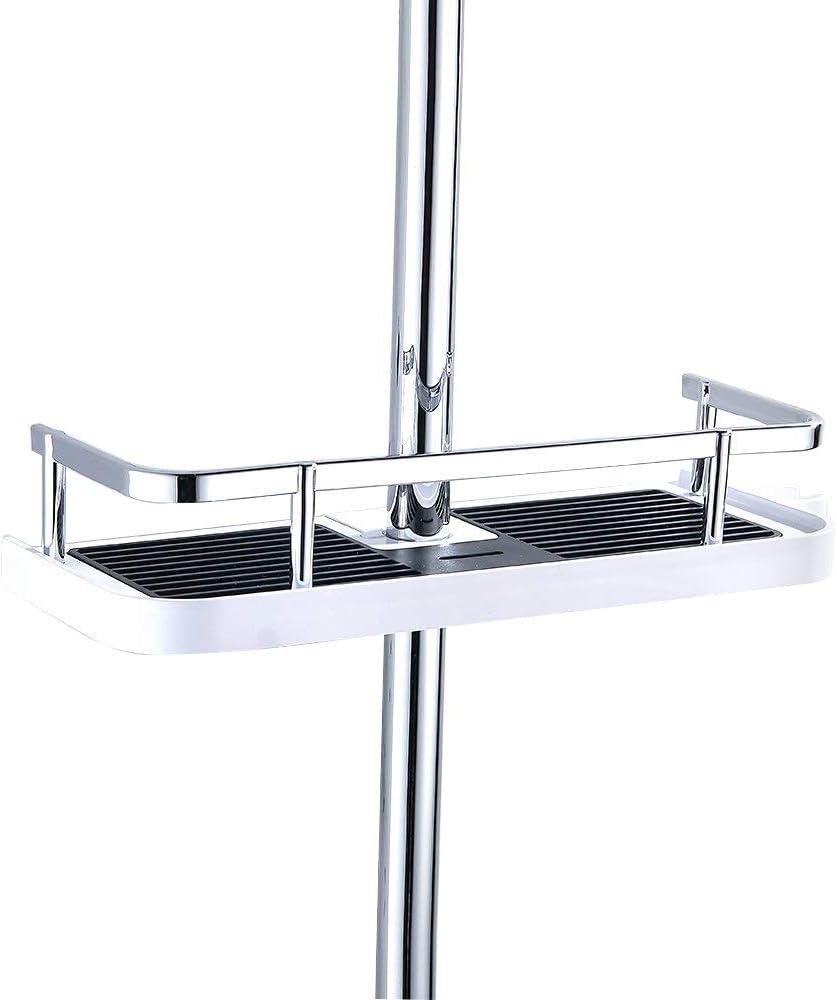 Fontic ABS Kunststoff Duschablage Badezimmerablage Dusche Rack Korb, ohne  Bohren zu Montieren Geeignet für alle Durchmesser von 17 bis 17mm with  Haken