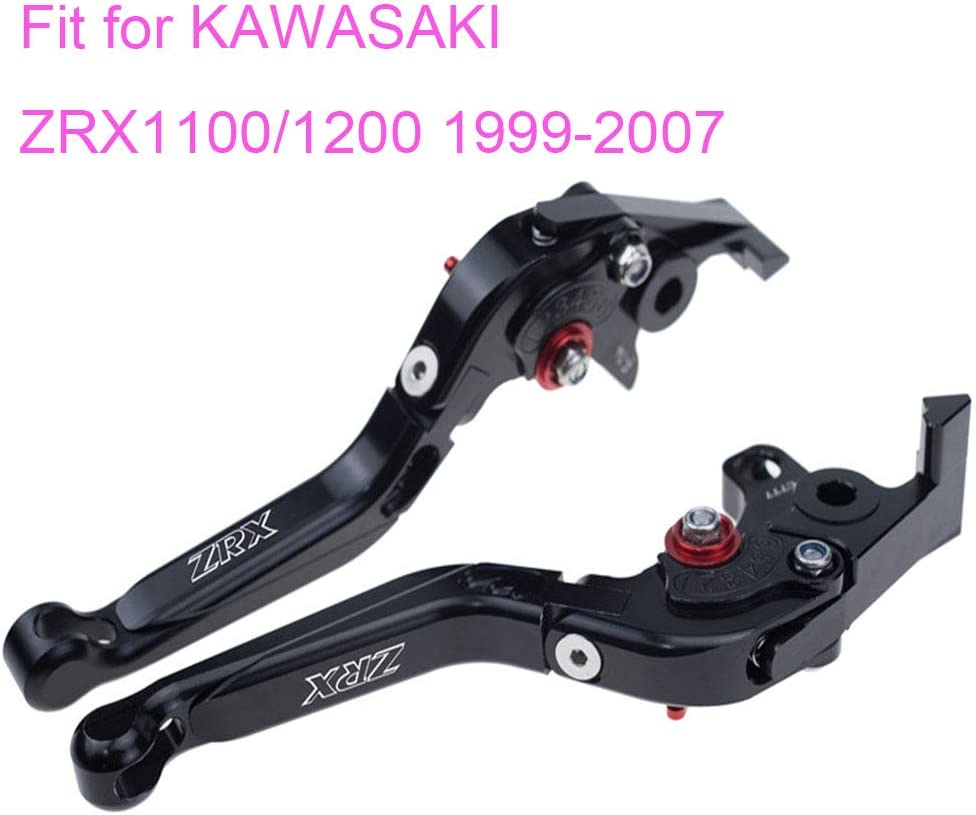 PRO-KODASKIN Folding Extendable Brake Clutch Levers for KAWASAKI ZRX1100//1200 1999-2007 Gold