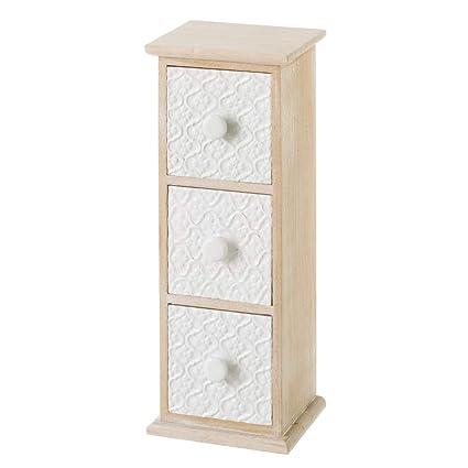 Mueble especiero de Madera con 3 cajones Blanco Moderno para Cocina Arabia - LOLAhome