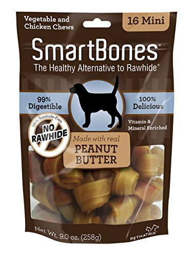 SmartBones Peanut Butter Dog Chew, Mini, 16 pieces/pack