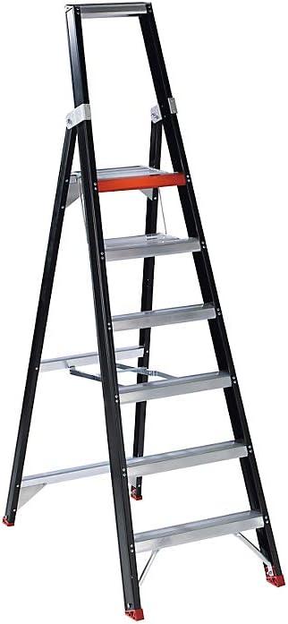 Seguridad de pie – Escalera de tijera (, 6 peldaños con plataforma – de aluminio Nivel Escaleras pie Escaleras de aluminio Escaleras Seguridad Escaleras Escaleras de aluminio Nivel pie Escaleras Nivel Escaleras