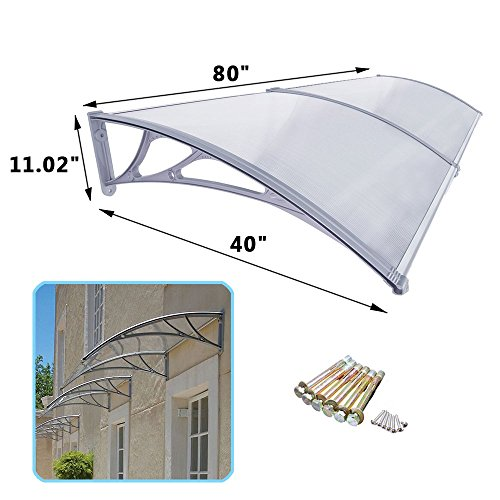 40 X 80 Window Awning Door Canopy Polycarbonate Cover