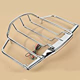 TCMTMotorcycles Chrome Tour Pak Pack Trunk Luggage Mounting Rack LED Light For Harley Electra Street Glide 1993 94 95 96 97 98 99 00 01 02 03 04 05 06 07 08 09 10-2014